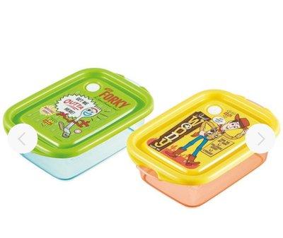 (現貨)日本製 各容量約500ml 約17.8x11.9x5.5cm 二個裝 儲存容器 食物盒 可堆疊擺放 Toy story4 反斗奇兵4 小叉 日本直送