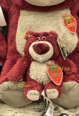 s號☆汪將☆美國迪士尼 玩具總動員 lotso 熊抱哥 草莓香味 7吋 18公分 S號 絨毛布偶 娃娃