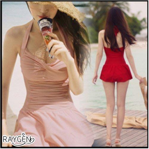 八號倉庫 韓版 泳衣 女連身 顯瘦遮肚 泳裝 泡溫泉 加大碼 小胸 大胸 裙式【2X163Y995】