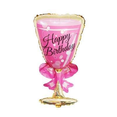 【I17】大號酒瓶酒杯造型鋁箔氣球 幼稚園園遊會生日 會場布置 慶生 活動裝飾 酒吧開幕高腳杯雞尾酒