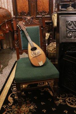 【家與收藏】特價稀有珍藏歐洲百年古董樂器19世紀義大利古典精緻手工Inlaid那不勒斯首席曼陀林