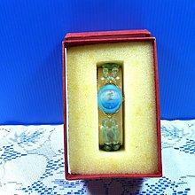 【水晶錶】全新絕版 鱷魚錶 (橢圓天藍框藍面) 水晶錶帶手圍可調整 附盒 尺寸:9*3.5*2.5㎝ 重量:90g