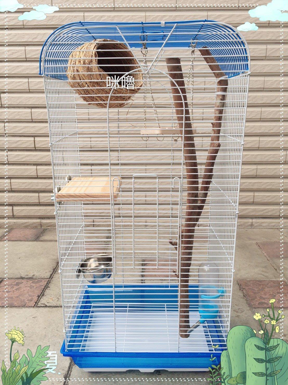 。╮♥咪嚕寵物用品♥╭。抽屜式小蜜遊戲籠^.^適合:寵物鳥/蜜袋鼯...兩用籠