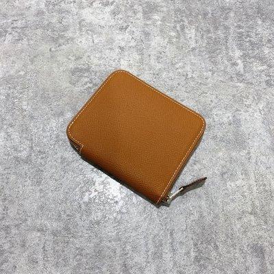 Hermes 絲巾短夾 Epsom 37 Gold 駝色《精品女王全新&二手》