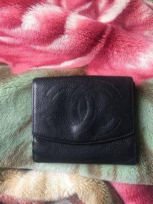 Chanel黑色短夾~保証真品 桃園市