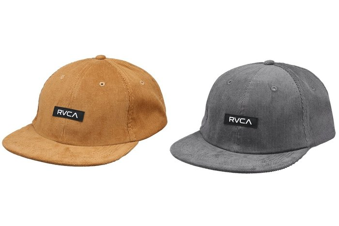 { POISON } RVCA FLEETWOOD SIZ PANEL POLO HAT 老風格燈芯絨老帽 後扣棒球帽
