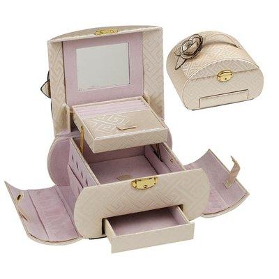 首飾盒 scsc首飾盒公主歐式韓國耳環簡約帶鎖飾品手飾收納盒結婚生日禮物   全館免運