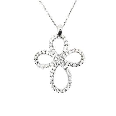 【JHT金宏總珠寶/GIA鑽石專賣】日本工藝十字架鑽石項鍊/材質:18K(JB46-A19)