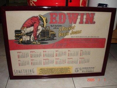 典藏一幅12年前 ED--WIN 牛仔布製作的年曆(少見喔)