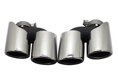 DJD19081201 Porsche Macan 尾飾管 雙出尾飾管 高亮黑