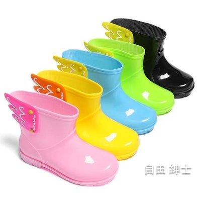 兒童雨鞋兒童雨鞋防滑男童寶寶水鞋 女童雨靴小童幼兒園膠鞋短筒