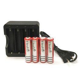18650鋰電池(4顆)+專用智能四充充電器組  加送18650電池專用收納電池保存盒