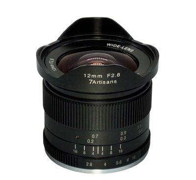 7 artisans 七工匠 - 12mm F/2.8 APS-C  手動對焦鏡頭