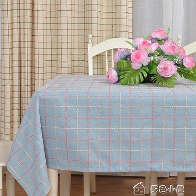 ZIHOPE 美式桌布布藝棉麻長方形格子田園小清新茶幾圓桌方餐桌蓋布巾訂製ZI812