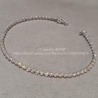 輕珠寶訂製18K金白金時尚排鑽手鍊 高品質天然真鑽一克拉鑽石手環 tiffany Cartier 風格 情人節禮物