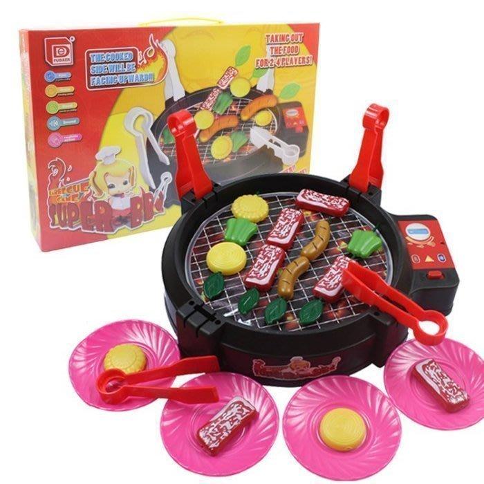 *歡樂屋*.....//兒童BBQ電動烤肉玩具 燒烤 電動燒烤 //.....親子趣味遊戲-