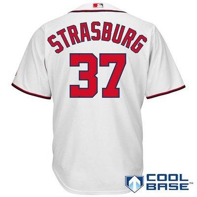 Stephen Strasburg Majestic White Cool Base Player Jersey