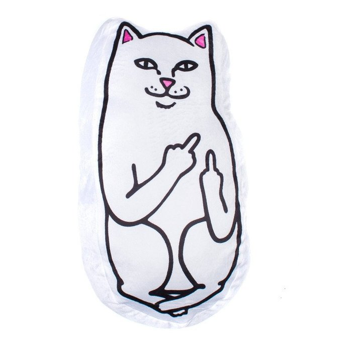 { POISON } RIPNDIP LORD NERMAL PILLOW 中指貓抱枕 Rip N Dip
