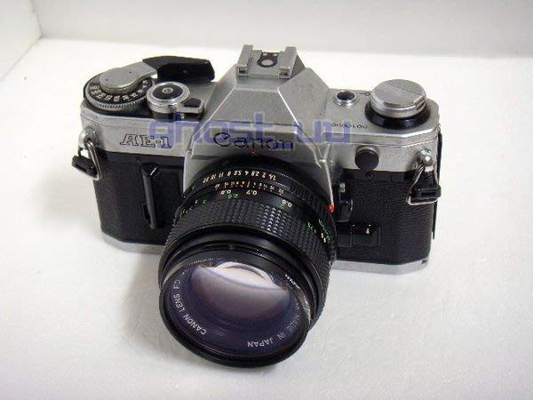 Canon AE-1 50mm F1.4 附kenko 52mm保護鏡 35年老相機 日本製 傳統 底片 相機 可當收藏