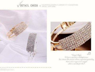 現貨出清 特價中 925銀飾 滿版鑽面寬型扣式手環