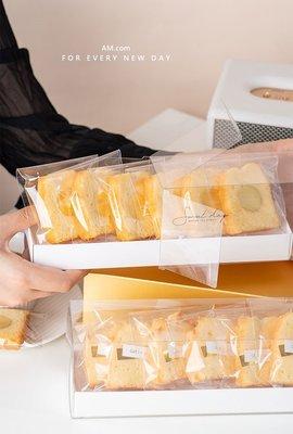 AM好時光【M412】覆膜全透明禮盒款 PVC長條包裝盒 附底盒5組入❤彌月蛋糕盒 婚禮小物喜餅盒 西點烘焙切片磅蛋糕盒