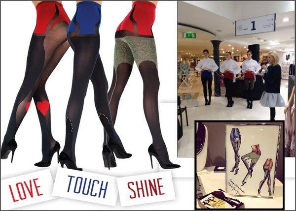 °☆就要襪☆°全新英國品牌 PRETTY POLLY JOANNE HYNES TOUSH 性感奢華寶石鑲崁造型亞光褲襪
