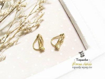串珠材料˙耳環配件 黃銅三角耳夾扣3對6P【F7507】12mm飾品手作DIY《晶格格的多寶格》