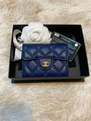 Chanel 雙層零錢包 寶藍