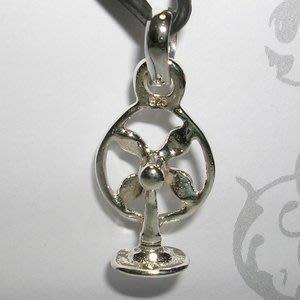 琥珀貓銀飾DIY【925純銀飾品】墜飾~N9991~大同電扇~一個