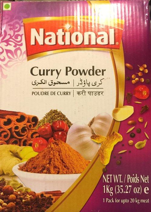 {瑪莎拉}NATIONAL CURRY POWDER 100%純 印度咖哩粉1000g  (歡迎批發)