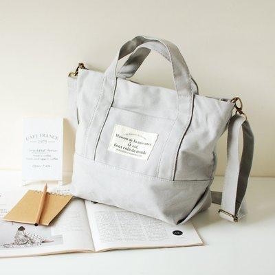 【里樂@ LeaThER】日系清新帆布袋 帆布包 手提袋 斜背包 書包 626
