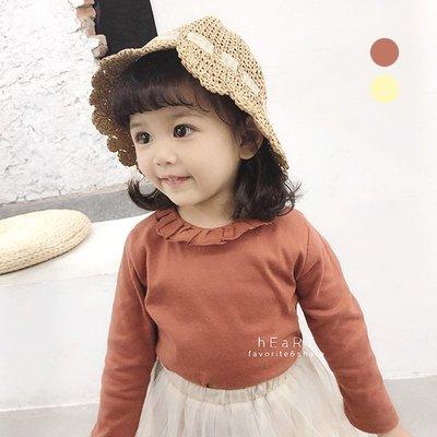 【可愛村】甜美花邊領長袖上衣 童裝