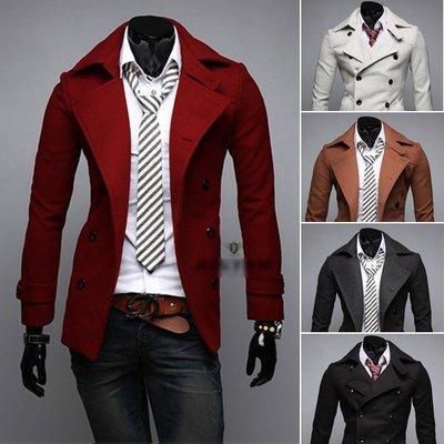 yes99buy加盟-2013新品男款毛呢外套 男式戶外休閒呢大衣 男士時尚修身毛呢大衣