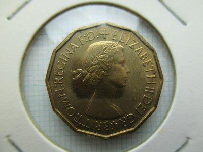 英國.3 Pence.1953年