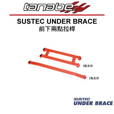 【Power Parts】TANABE SUSTEC UNDER BRACE 前下兩點拉桿 HONDA FIT GE