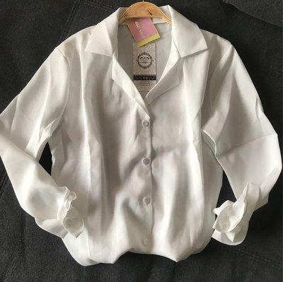 韓純淨純白襯衫