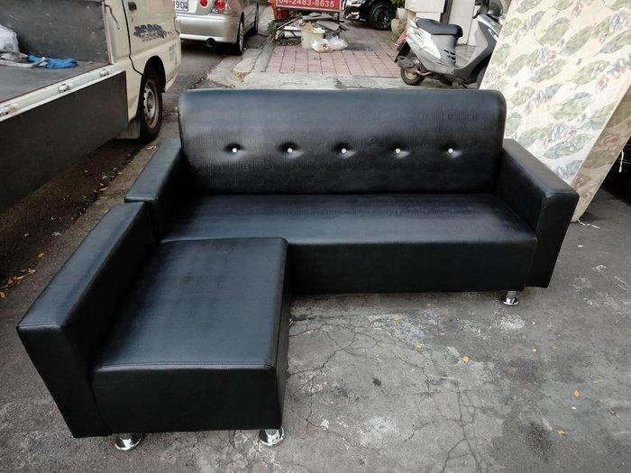 非凡二手家具 全新鑲鑽鱷魚皮革三人沙發含腳椅凳*客廳沙發*皮沙發*洽談沙發*辦公沙發*整套沙發*沙發椅*皮革沙發