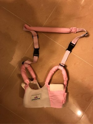 嬰兒BB學行防摔防勒薄透氣嬰幼兒童學行帶馬甲式拖繩(粉紅色)