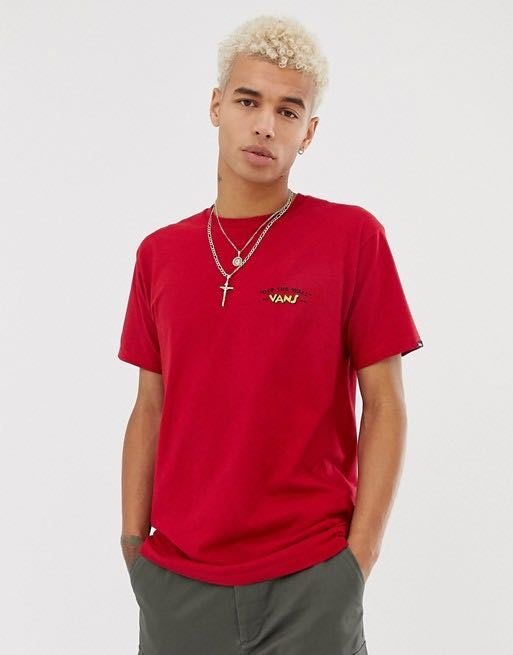 Vans x Mickey Mouse t-shirt in red 聯名經典短Tee 紅