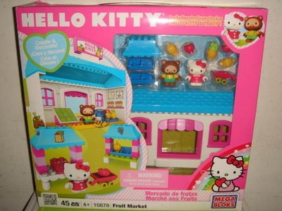 1摩比人LEGO樂高MEGA BLOKS美高10878三麗鷗凱蒂貓Hello Kitty超級市場積木公仔三百五十一元起標