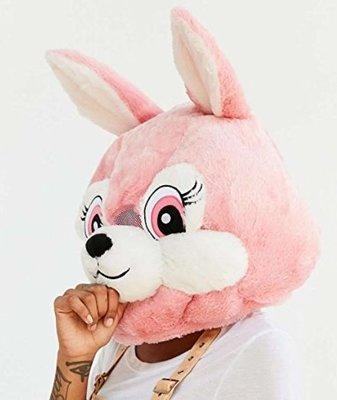 【丹】A_Big Fat Head: RABBIT 兔子 粉紅色 兔子頭 造型 帽子 頭套 COSPLAY