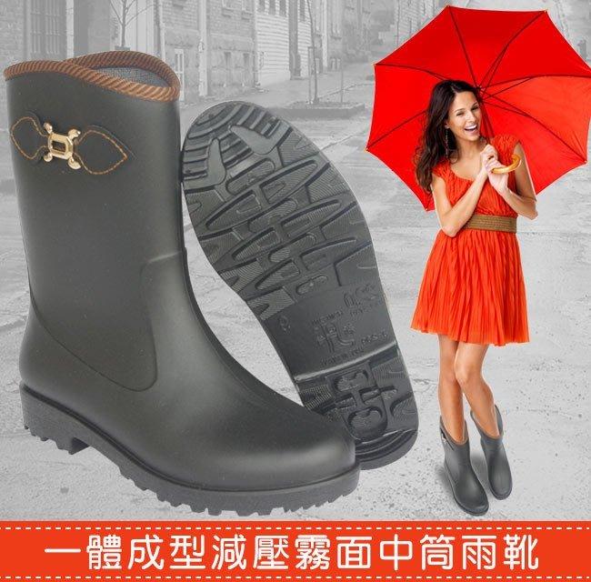【台灣製造】一體成型時尚雨靴 雨鞋