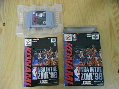 【小蕙館】N64日版卡帶 ~ NBA IN THE ZONE 98 NBA籃球98 (盒裝)