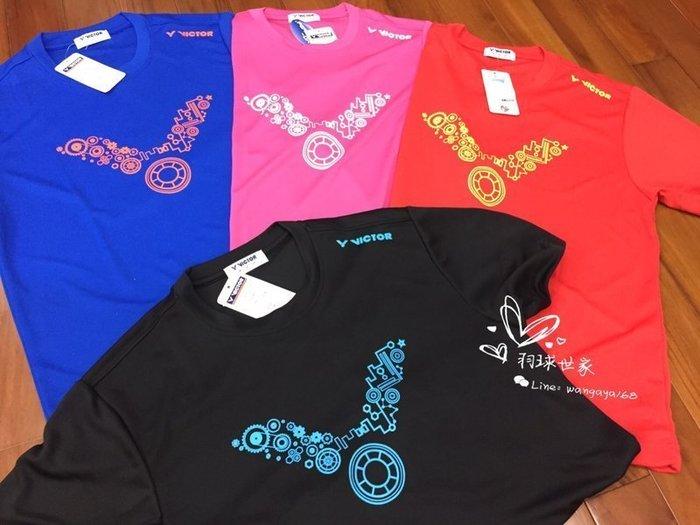 ◇ 羽球世家◇【衣】勝利運動T恤 LOGO T-Shirt 中性 T-3753  排汗羽球短T 《LOGO圖騰》短袖