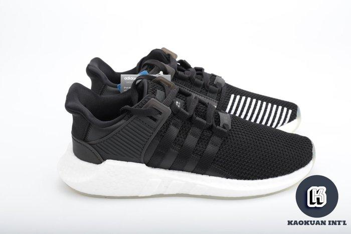 【高冠國際】ADIDAS EQT SUPPORT 93/17 BOOST 黑白 慢跑鞋 皮革 線條 BZ0585