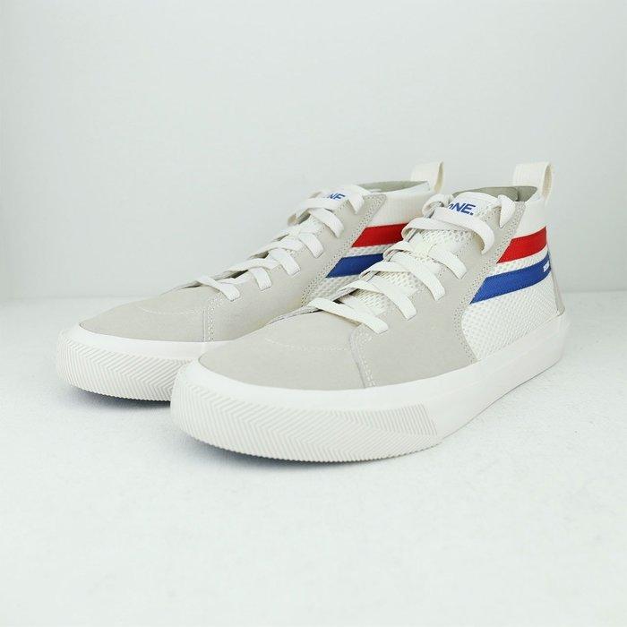Skechers Champ Ultra 米白 藍紅 麂皮 網布 休閒鞋 男 18566WHT ☆SP☆