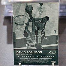 David Robinson~1999 SAGE A43 限量80張高比例簽名卡~馬刺隊名人堂~非常少見 絕版卡~