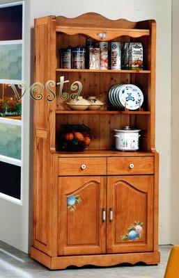*Vesta 維斯塔*夏綠蒂 彩繪全實木雙門書櫃
