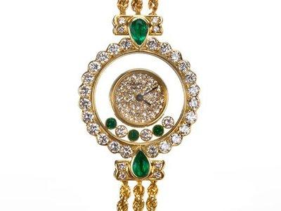 Chopard 蕭邦18K金原鑲快樂鑽錶