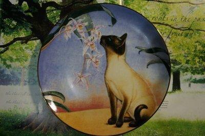 Danbury Mint Cats & Flowers 系列盤: Nose In Bloom(貓盤)